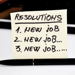 New year resolution, new job